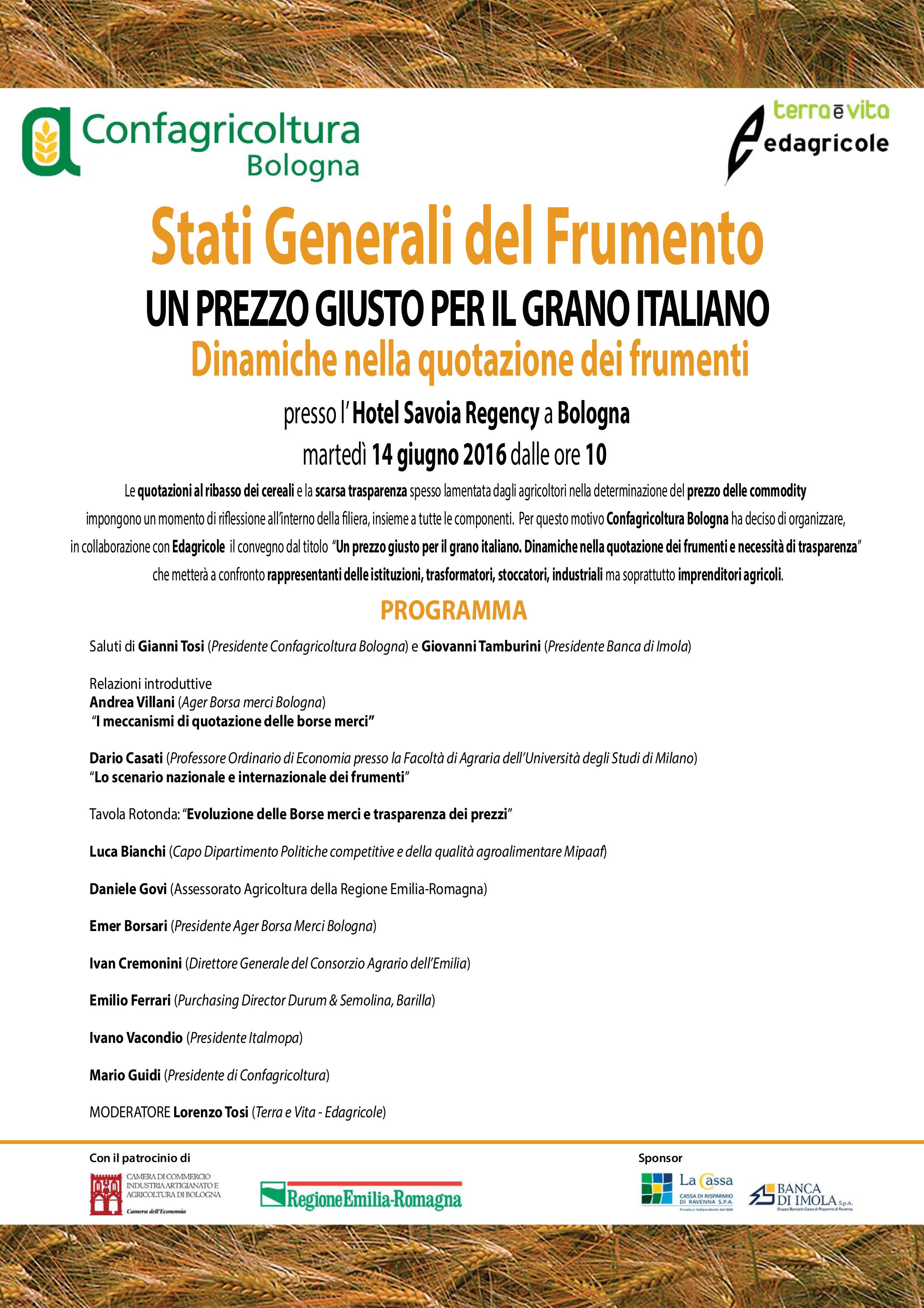 Stati Generali del Frumento - un prezzo giusto per il grano italiano ...