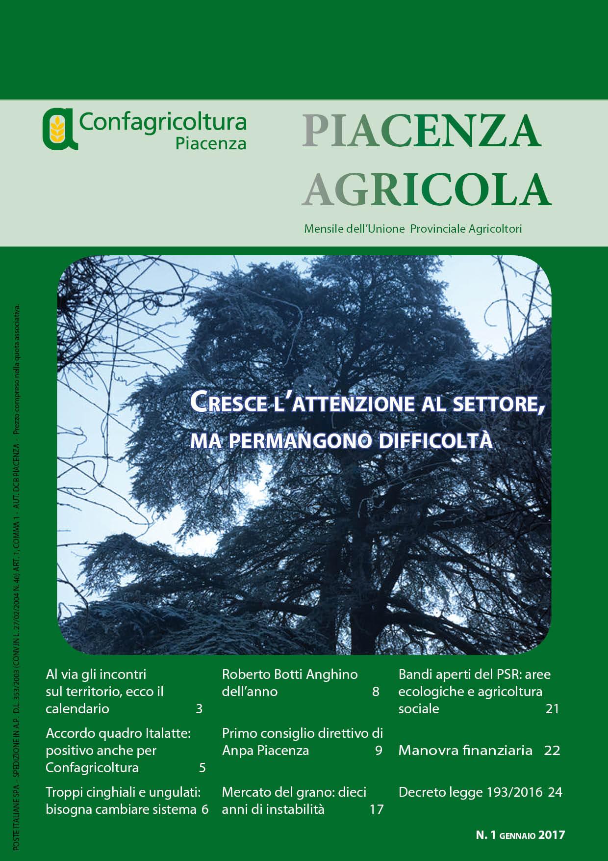 Piacenza Agricola - Gennaio 2017