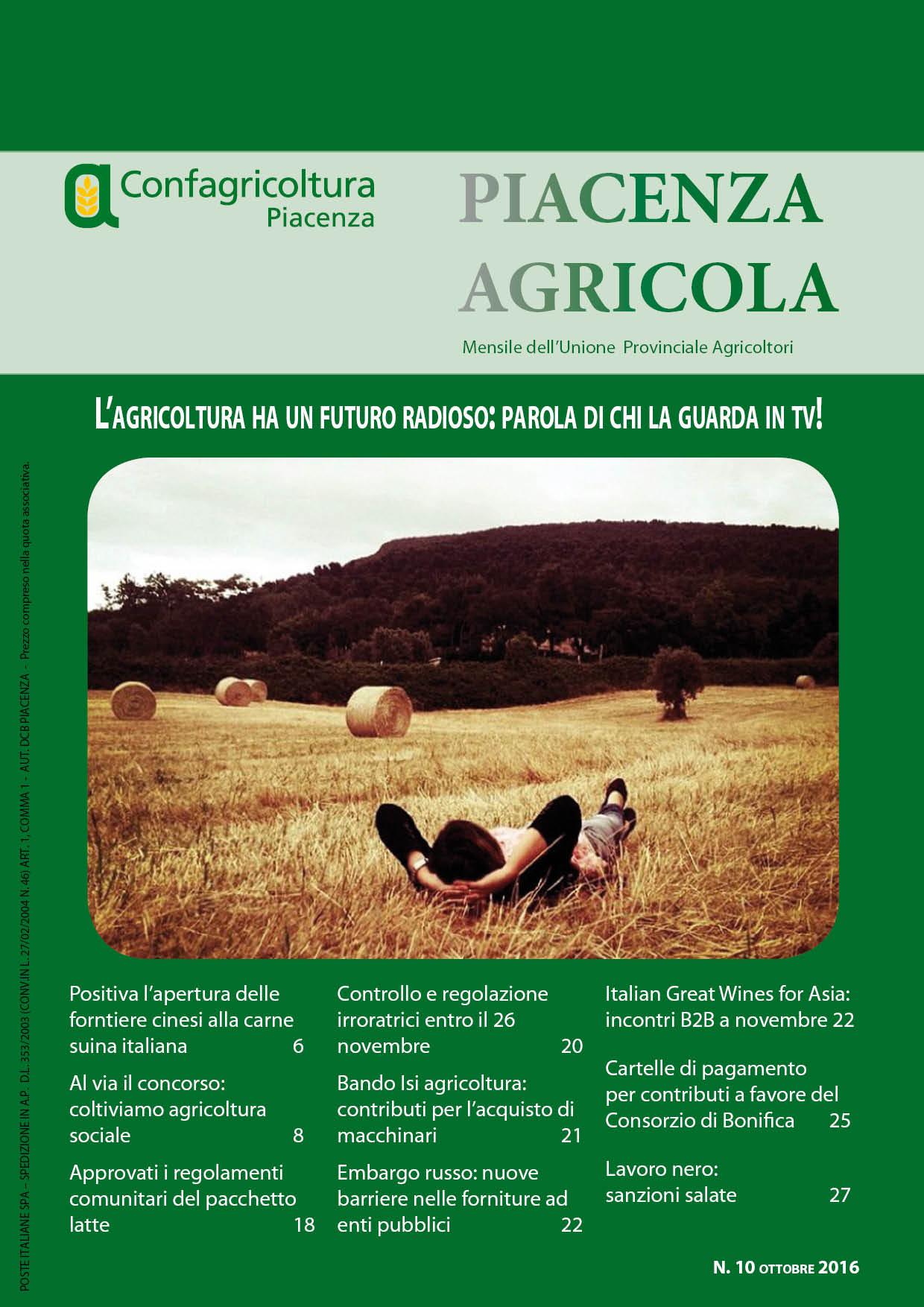 Piacenza Agricola - Ottobre 2016