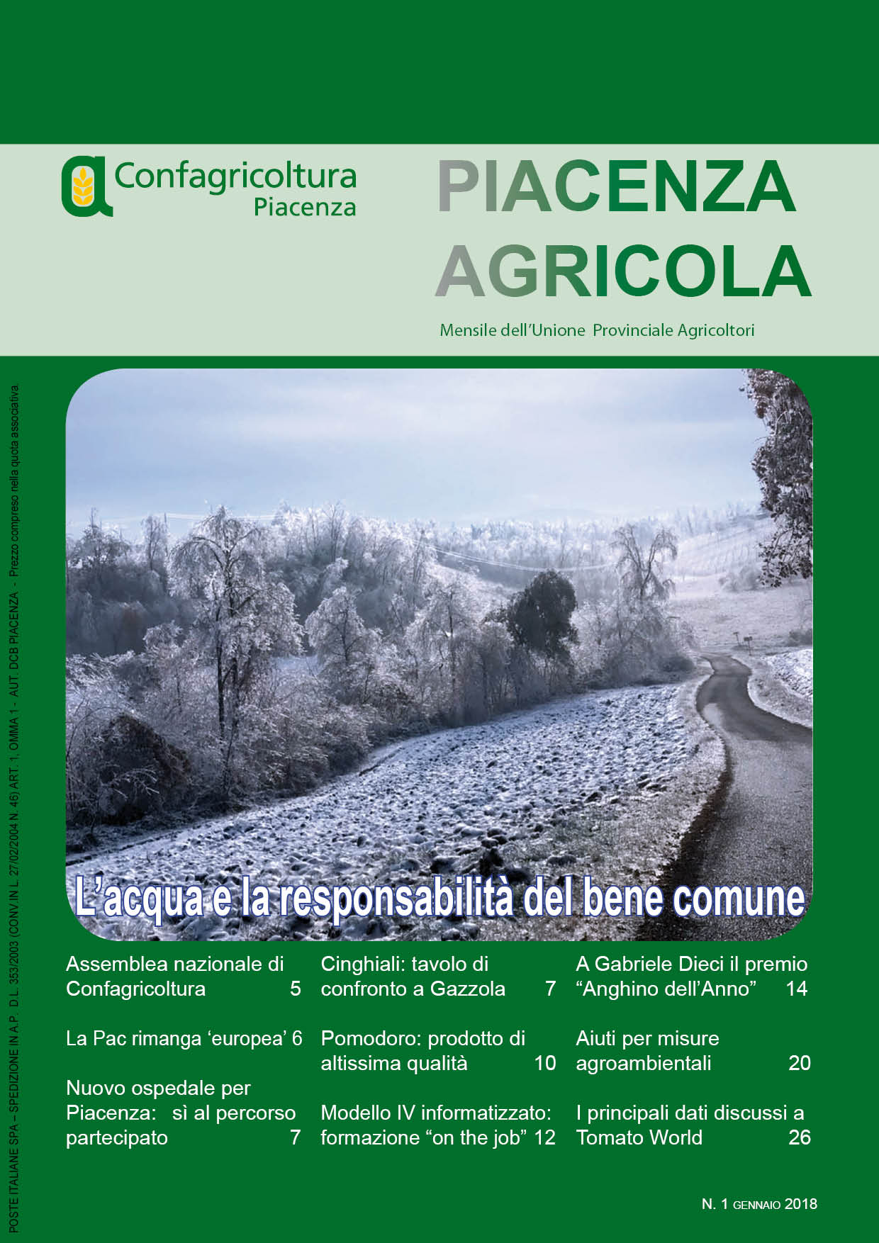 Piacenza Agricola - Gennaio 2018