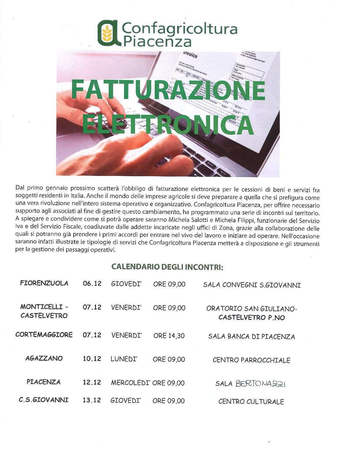 FATTURAZIONE ELETTRONICA - INCONTRI