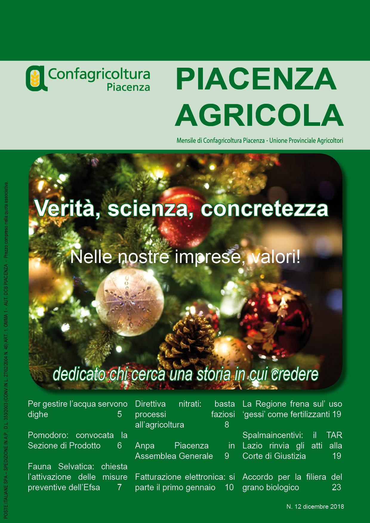 Piacenza Agricola - Dicembre 2018